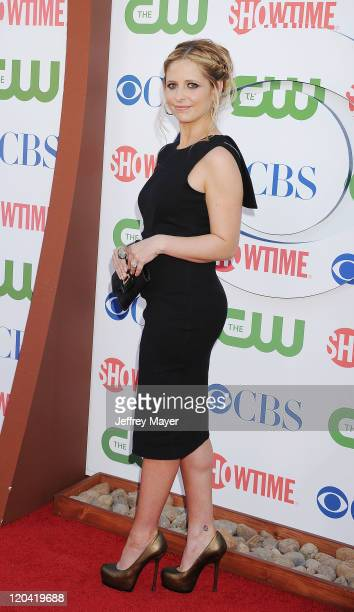 Sarah Michelle Gellar arrives at the TCA Party for CBS The CW and Showtime held at The Pagoda on August 3 2011 in Beverly Hills California