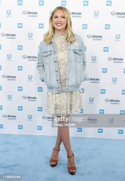 Sarah Michelle Gellar arrives at WE Day California 2019 at The Forum on April 25, 2019 in Inglewood, California.
