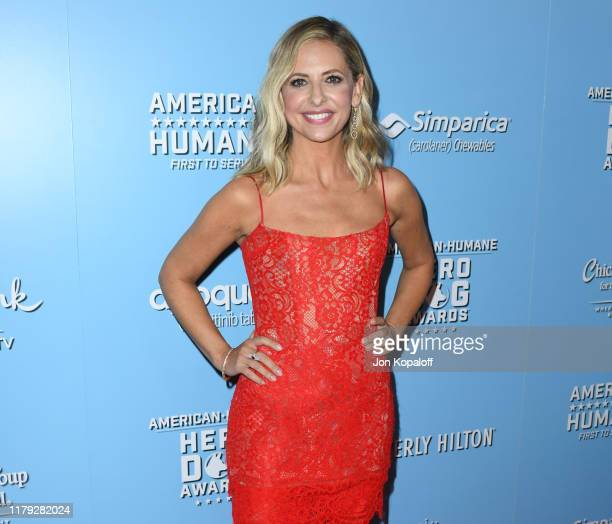 Sarah Michelle Gellar attends the 9th Annual American Humane Hero Dog Awards at The Beverly Hilton Hotel on October 05, 2019 in Beverly Hills,...