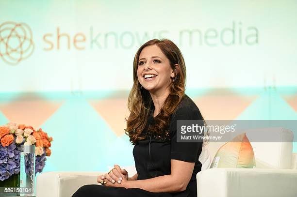 Sarah Michelle Gellar attends the #BlogHer16 Experts Among Us Conference at JW Marriott Los Angeles at LA LIVE on August 5 2016 in Los Angeles...