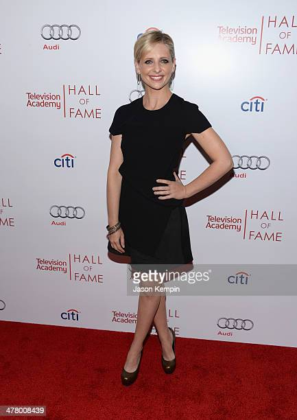 Sarah Michelle Gellar attends The Television Academy's 23rd Hall Of Fame Induction Gala at Regent Beverly Wilshire Hotel on March 11 2014 in Beverly...