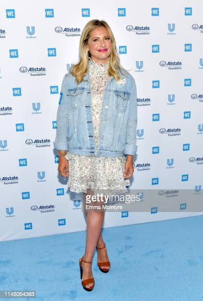 Sarah Michelle Gellar attends WE Day California at The Forum on April 25, 2019 in Inglewood, California.