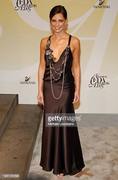 Sarah Michelle Gellar during 2005 CFDA Fashion Awards Arrivals at The New York Public Library in New York City New York United States