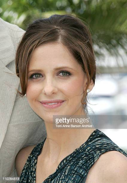 Sarah Michelle Gellar during 2006 Cannes Film Festival 'The Southland Tales' Photocall at Palais du Festival Terrace in Cannes France