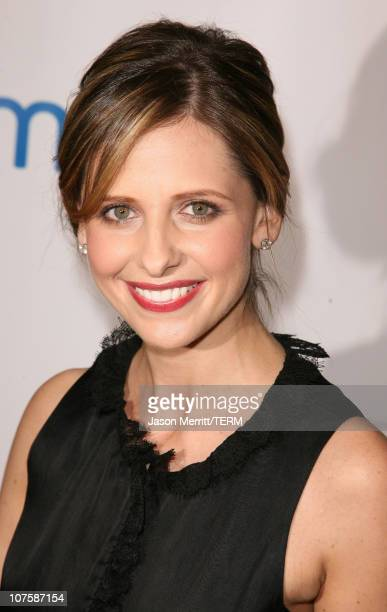 Sarah Michelle Gellar during AOL and Warner Bros Launch In2TV at Museum of TV Radio in Los Angeles California