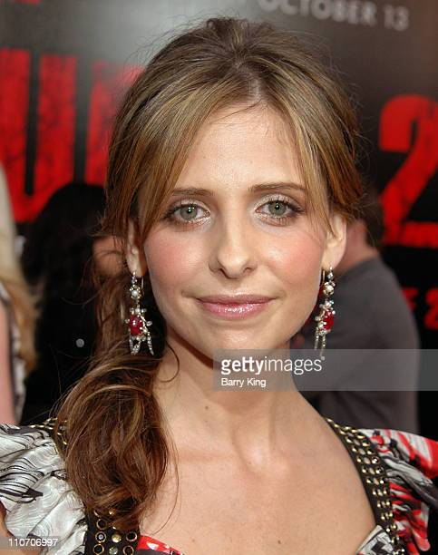 Sarah Michelle Gellar during Columbia Pictures 'The Grudge 2' Premiere at Knott's Scary Farm at Knott's Scary Farm in Buena Park California United...