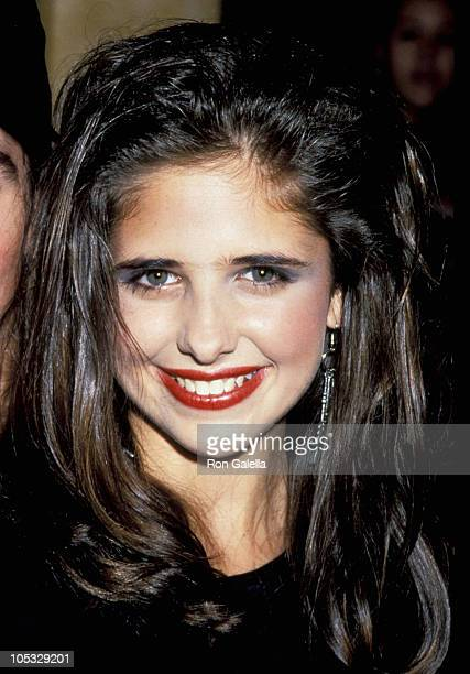 Sarah Michelle Gellar during Lunch Promotion With Cast of 'Swans Crossing' July 23 1992 at Planet Hollywood in New York City New York United States