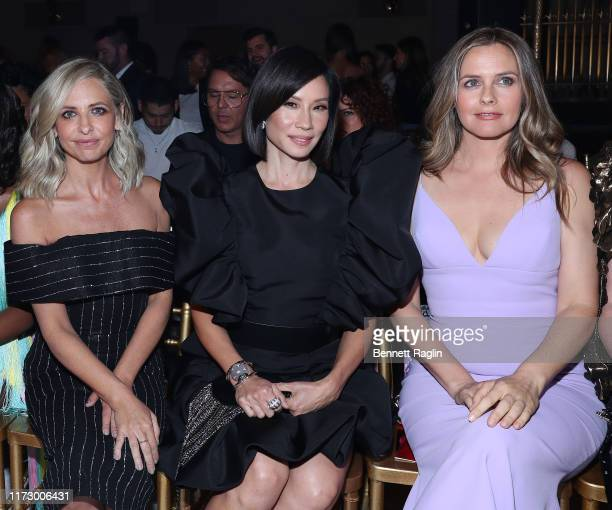 Sarah Michelle Gellar, Lucy Liu and Alicia Silverstone attend the Christian Siriano Fashion Show at New York Fashion Week at Gotham Hall on September...