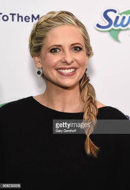 Sarah Michelle Gellar Swiffer encourage parents to say 'Yes To The Mess'at Maman Bakery Tribeca on February 3 2016 in New York City