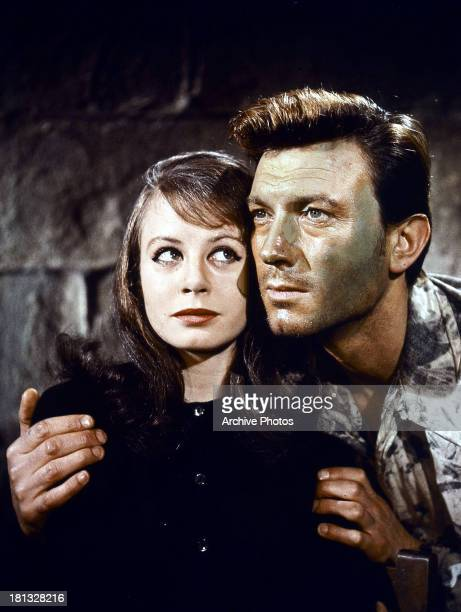 Sarah Miles and Laurence Harvey in a scene from the film 'The Ceremony' 1963