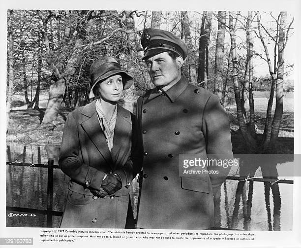 Sarah Miles And Robert Shaw in a scene from the film 'The Hireling' 1973