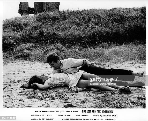 Sarah Miles and Sean Caffrey are young and in love in a scene from the movie Time Lost and Time Remembered circa 1966