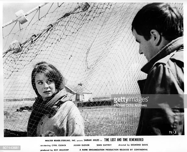 Sarah Miles and Sean Caffrey meet for the first time in a scene from the movie Time Lost and Time Remembered circa 1966