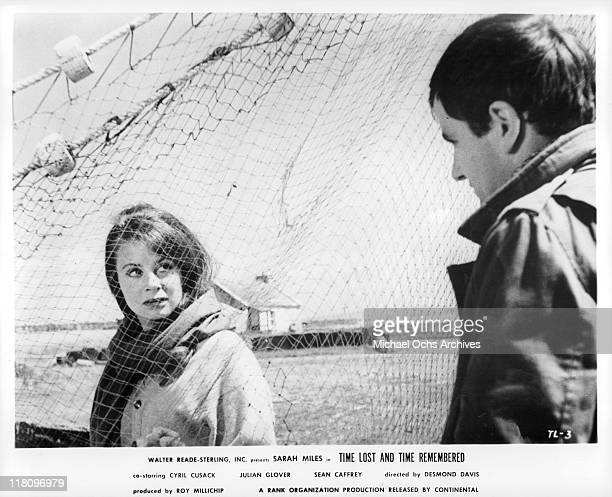 Sarah Miles and Sean Caffrey once young lovers meet for the first time since her return from London in a scene from the film 'Time Lost and Time...