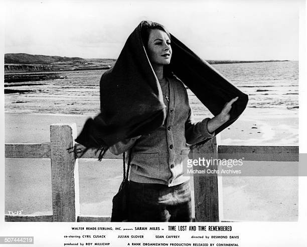 Sarah Miles as Cass Langdon looks to the ocean in a scene from the movie Time Lost and Time Remembered circa 1966