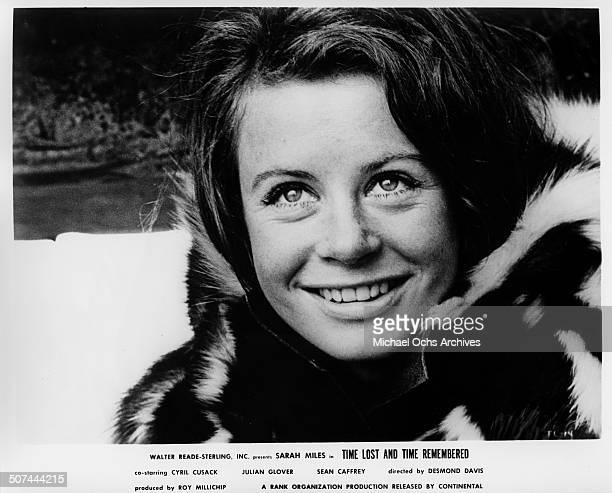Sarah Miles as Cass Langdon smiles as she leaves home for London in a scene from the movie Time Lost and Time Remembered circa 1966