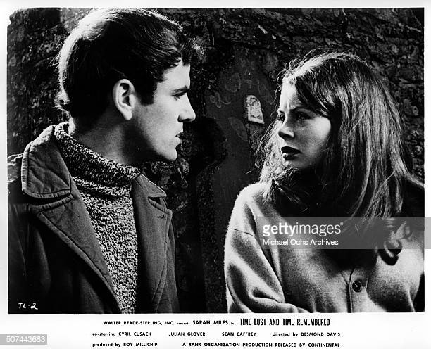 Sarah Miles has a stormy meeting with Sean Caffrey in a scene from the movie Time Lost and Time Remembered circa 1966