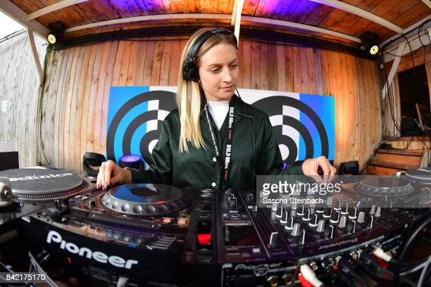 Sarah Miles performs during the Bread & Butter by Zalando at Badeschiff, arena Berlin on September 3, 2017 in Berlin, Germany.