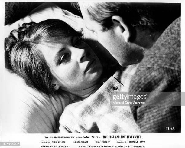 Sarah Miles returns to Julian Glover in a scene from the movie Time Lost and Time Remembered circa 1966