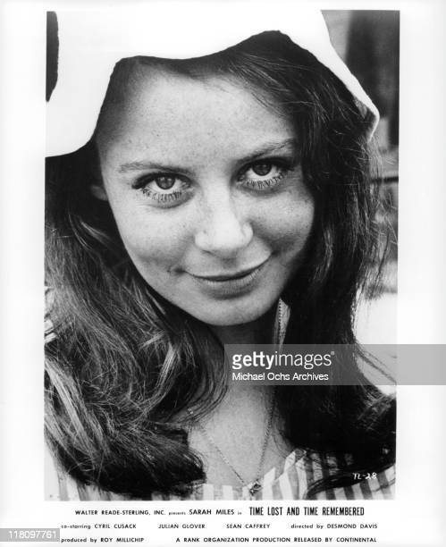 Sarah Miles wearing a cap in a scene from the film 'Time Lost and Time Remembered' 1966