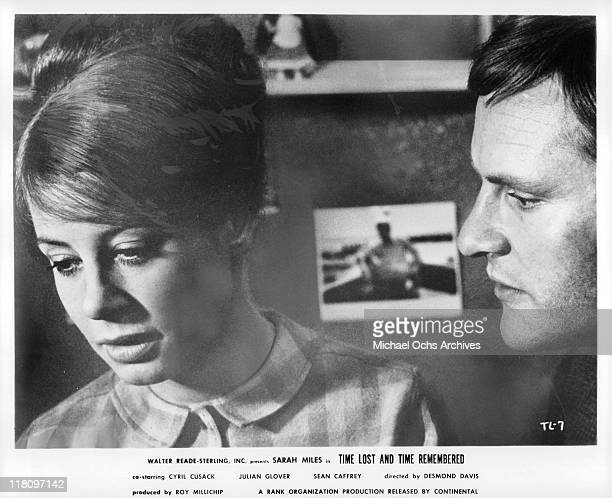 Sarah MilesJulian Glover drift into an unhappy marriage in a scene from the film 'Time Lost and Time Remembered' 1966