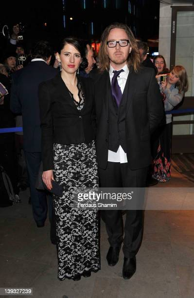 Sarah Minchin and Tim Minchin arrive at the Theatregoers' Choice Awards at Prince Charles Theatre on February 19 2012 in London England