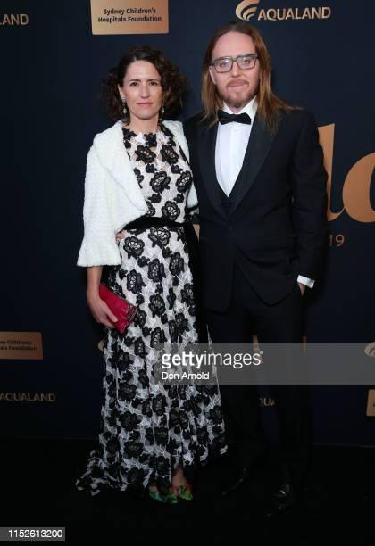 Sarah Minchin and Tim Minchin attends the annual Gold Dinner at Fox Studios on May 30 2019 in Sydney Australia