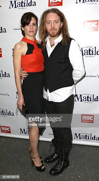 Sarah Minchin Tim Minchin attending the Broadway Opening Night Performance of 'Matilda The Musical' at the Shubert Theatre in New York City on...