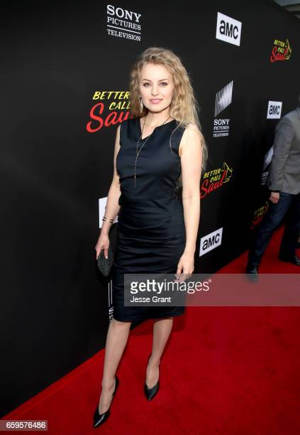 Sarah Minnich attends AMC's 'Better Call Saul' season 3 premiere at ArcLight Cinemas on March 28 2017 in Culver City California