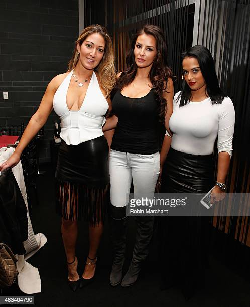 Sarah Mirmelli Ania Danilina and Kelly Mustapha attend Haute Living NY And Louis XIII Cognac Collectors Dinner In Honor Of NBA All Star Weekend 2015...