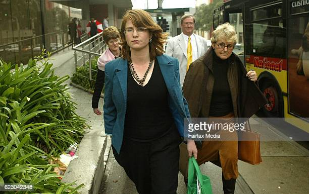 Sarah Moore leaving the Ringwood Court She was a victim of The Family led by Anne HamiltonByrne 30 June 2005