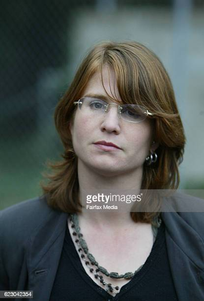 Sarah Moore leaving the Ringwood Court She was a victim of The Family led by Anne HamiltonByrne 3 July 2005