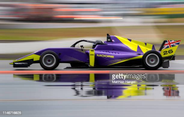 Sarah Moore of Great Britain drives during a training session prior to the first race of the W Series at Hockenheimring on May 03, 2019 in...