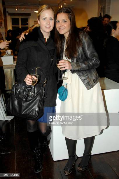 Sarah Moreau and Ludivine attend JEROME DREYFUSS Fall/Winter 2009 Collection at LUDIVINE Uptown at Boutique Ludivine on February 19 2009 in New York...
