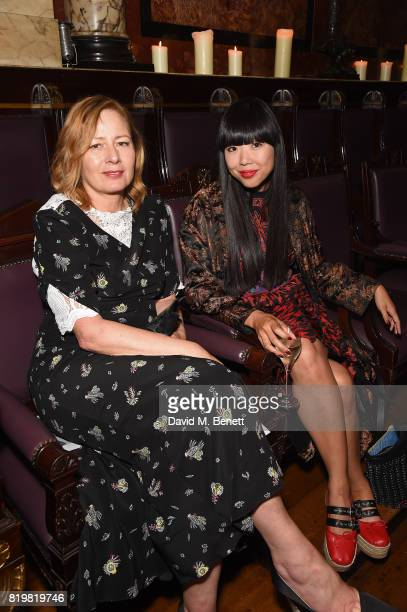 Sarah Mower and Susie Bubble attend a dinner to celebrate the launch of the Luisaviaroma LVR Edition 3 project by Dilara Findikoglu at Andaz...