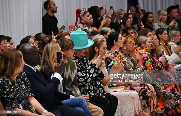 Sarah Mower, Editor-In-Chief of British Vogue Edward Enninful, Kate Moss, Jordan Barrett, Boy George, Olga Kurylenko, Erin O'Connor, Mahalia, Mabel,...