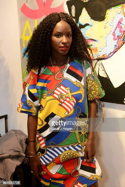 Sarah Mulindwa attends Alec Monopoly's 'Breaking the Bank on Bond Street' exhibition launch party at the Eden Fine Art Gallery on May 31 2018 in...