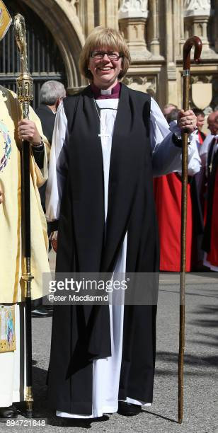 Sarah Mullally Bishop of Crediton at Canterbury Cathedral on July 22 2015 in Canterbury England The consecration makes Rachel Treweek the most senior...