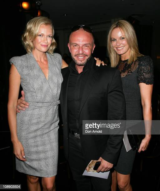 Sarah Murdoch Alex Perry and Charlotte Dawson pose post show during the David Jones Autumn/Winter 2011 season launch at the David Jones Elizabeth...