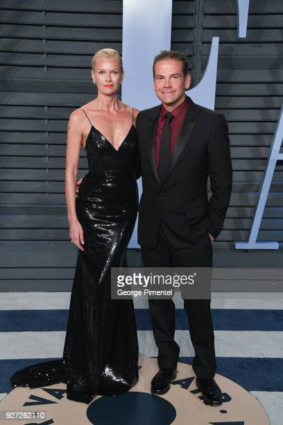 Sarah Murdoch and CoChairman of 21st Century Fox Lachlan Murdoch attend the 2018 Vanity Fair Oscar Party hosted by Radhika Jones at Wallis Annenberg...