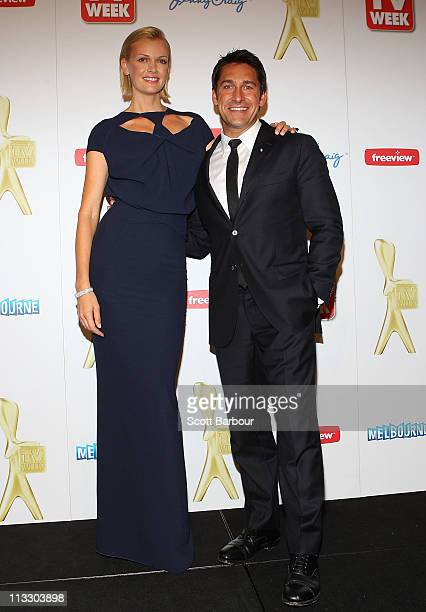 Sarah Murdoch and Jamie Durie pose in the media room during the 2011 Logie Awards at Crown Palladium on May 1 2011 in Melbourne Australia