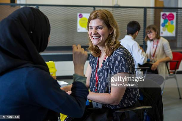 Sarah Murphy TB Nurse Specialist for London TB Extended Contact Tracing team interviews a teenage girl who has had been identified as having contact...
