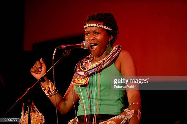 Sarah Ndagire performs during the London African Music Festival at The Front Room South Bank Centre on September 10 2010 in London England