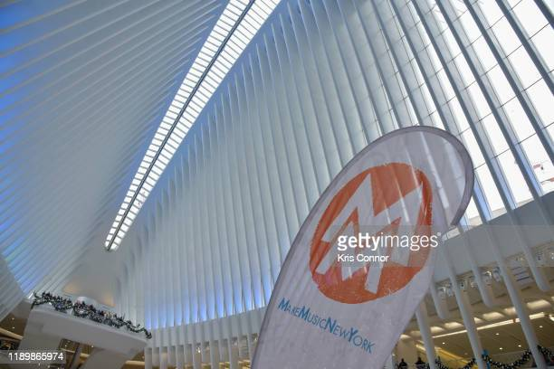 Sarah Nelson performs during Piano City as part of Make Music Winter at the Oculus on December 21 2019 in New York City
