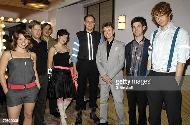 Sarah Neufeld Tim Kingsbury Wil Butler Regine Chassagne Win Butler David Bowie Jeremy Gara and Richard Reed Parry *EXCLUSIVE*