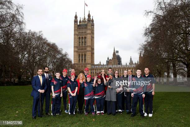 Sarah Newton, Minister of State for Disabled People, Health and Work, met with athletes from the Special Olympics GB team to wish them good luck as...