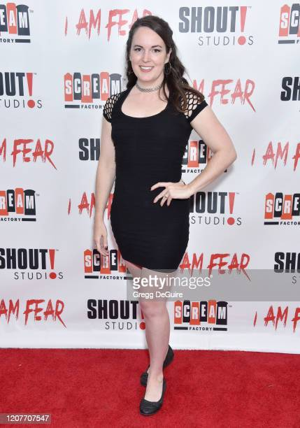 """Sarah Nicklin attends the Los Angeles Premiere of Roxwell Films """"I Am Fear"""" at Laemmle Monica Film Center on February 20 2020 in Santa Monica..."""