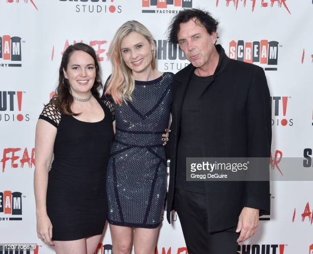 """Sarah Nicklin Kristina Klebe and Sean Decker attend the Los Angeles Premiere of Roxwell Films """"I Am Fear"""" at Laemmle Monica Film Center on February..."""