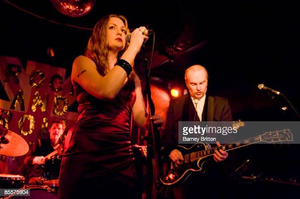 Sarah Nixey and Luke Haines of Black Box Recorder perform on stage at the Luminaire on February 18 2009 in London