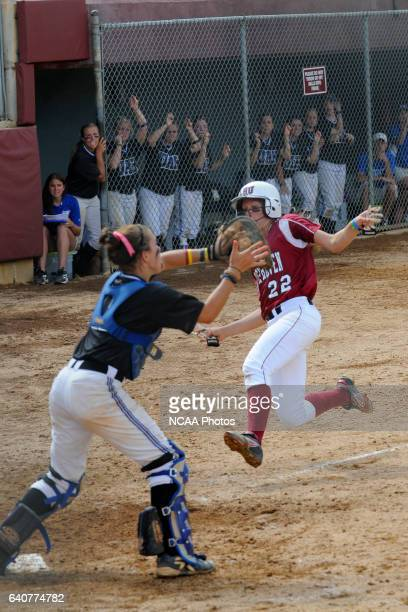 Sarah Norris of Lock Haven University slides into home to score during the Division II Women's Softball Championship held at the James I. Moyer...